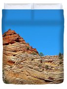 Zion Checkerboard Formations Duvet Cover