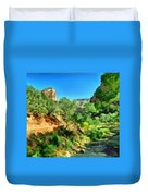 Zion In The Morning Duvet Cover
