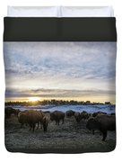 Zion Mountain Ranch Buffalo Herd Duvet Cover