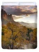 Zion National Park Autumn Duvet Cover