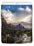 Zion National Park Sunset  Duvet Cover