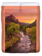Zion National Park The Watchman Duvet Cover