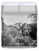 Zion National Park Utah Black White  Duvet Cover