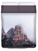 Zion Red Rock And Clouds Duvet Cover