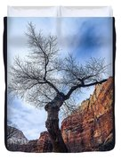 Zion Tree Woman Duvet Cover