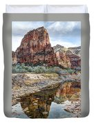 Zions National Park Angels Landing - Digital Painting Duvet Cover