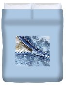 Zipper In Blue Duvet Cover