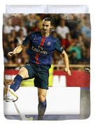 Zlatan Ibrahimovic In Action  Duvet Cover