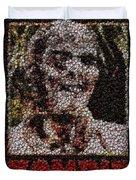 Zombie Bottle Cap Mosaic Duvet Cover by Paul Van Scott