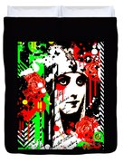 Zombie Queen Roses Duvet Cover