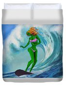 Zombie Surf Goddess Duvet Cover
