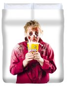 Zombie Woman With Popcorn Duvet Cover
