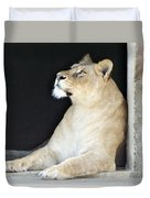 The Queen Of Animals Duvet Cover