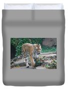 Chicago Zoo Tiger Duvet Cover