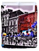 Zulu Krewe In Red And Blue Duvet Cover