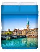 Zurich City Center Duvet Cover