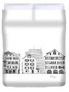 Zurich City Scene Duvet Cover