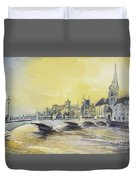 Zurich Sunset- Switzerland Duvet Cover