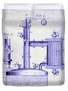 1878 Beer Boiler Patent Blueprint Duvet Cover