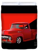 1956 Ford F100 Stepside Pickup Duvet Cover