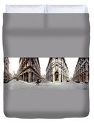 360 Degree View Of A City, Montreal Duvet Cover