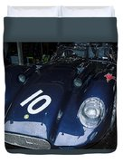A 1950's Lister Jaguar Race Car Duvet Cover
