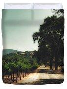 A Drive Through Napa Valley Duvet Cover