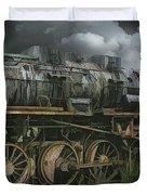 Abandoned Steam Locomotive  Duvet Cover