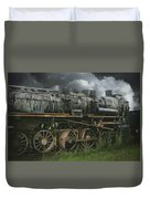 Abandoned Steam Locomotive  Duvet Cover
