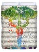 Advanced Practice Registered Nurse Gift Idea With Caduceus Illus Duvet Cover