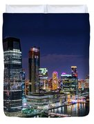Aerial Panorama Of Jersey City Duvet Cover