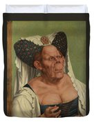 An Old Woman  The Ugly Duchess   Duvet Cover