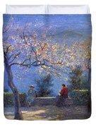 Angelo Morbelli 1853-1919, Spring In Colma - 1906 Duvet Cover