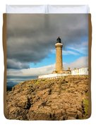 Ardnamurchan Point Lighthouse In Portrait Format. Duvet Cover