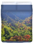 Autumn Color On Newfound Gap Road In Smoky Mountains National Park Duvet Cover
