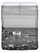 Avalon Harbor - Catalina Island, California Duvet Cover