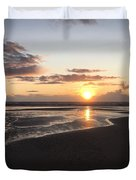Beach Sunset, Blackpool, Uk 09/2017 Duvet Cover