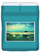 Blankenberge Beach Duvet Cover