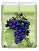 Blue Grape Bunches 6 Duvet Cover