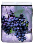 Blue Grape Bunches 7 Duvet Cover