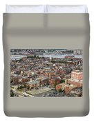 Boston Government Center, North End And Harbor Duvet Cover