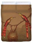 Brazilian Hummingbirds Duvet Cover