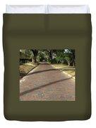Brick Road In Palatka Florida Duvet Cover