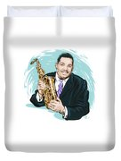 Cannonball Adderley - An Illustration By Paul Cemmick Duvet Cover