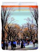 Central Park Mall Duvet Cover