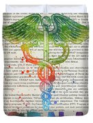 Certified Registered Nurse Anesthetist Gift Idea With Caduceus I Duvet Cover