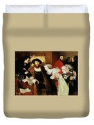 Christian II Signing The Death Warrant Of Torben Oxe  Duvet Cover
