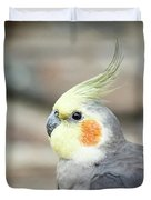 Close Up Of A Cockatiel Duvet Cover