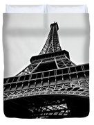 Close Up View Of The Eiffel Tower From Underneath  Duvet Cover