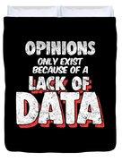 Computer Data Science Big Data Geek Pun Apparel Duvet Cover